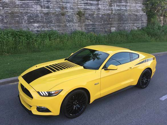 Mustang Faded Center Hood Stripe Decal Stripes Fit 2015