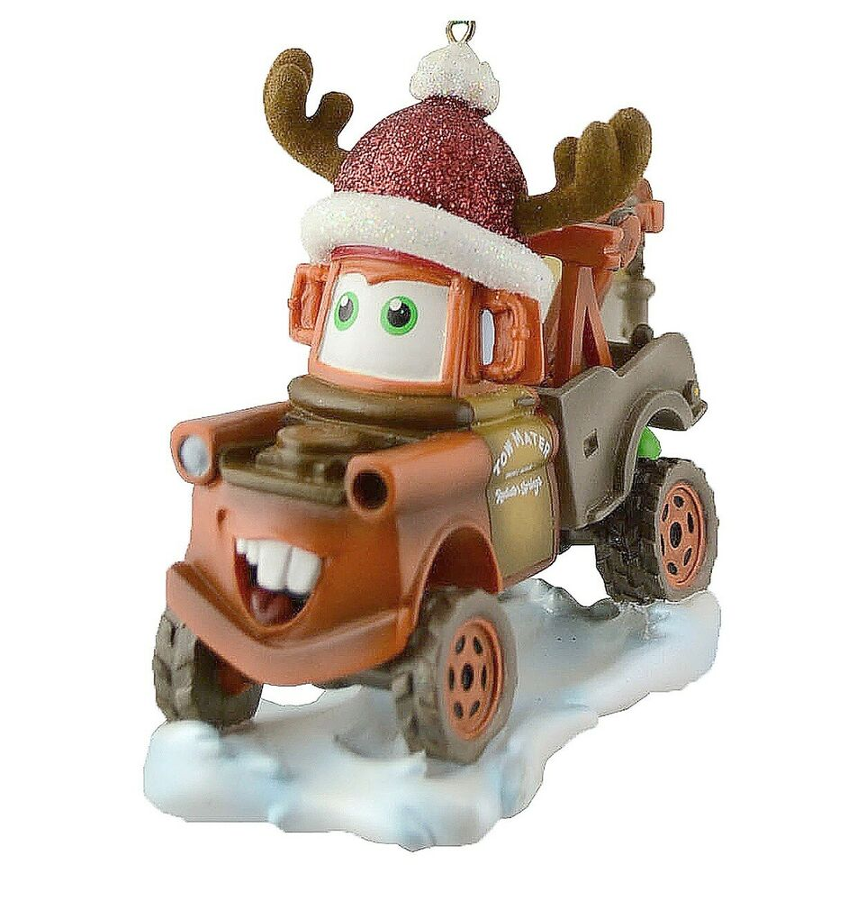 disney parks christmas cars tow mater with santa hat ...