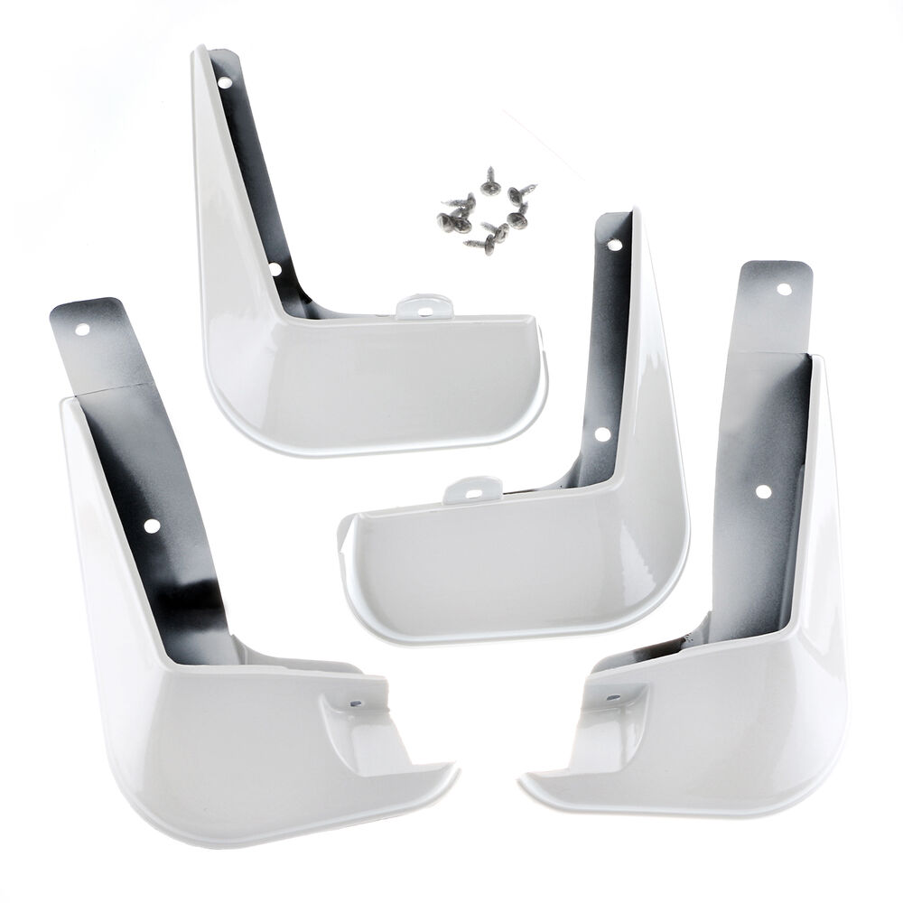 white mud flaps guard mudguard fenders splash flaps fit. Black Bedroom Furniture Sets. Home Design Ideas