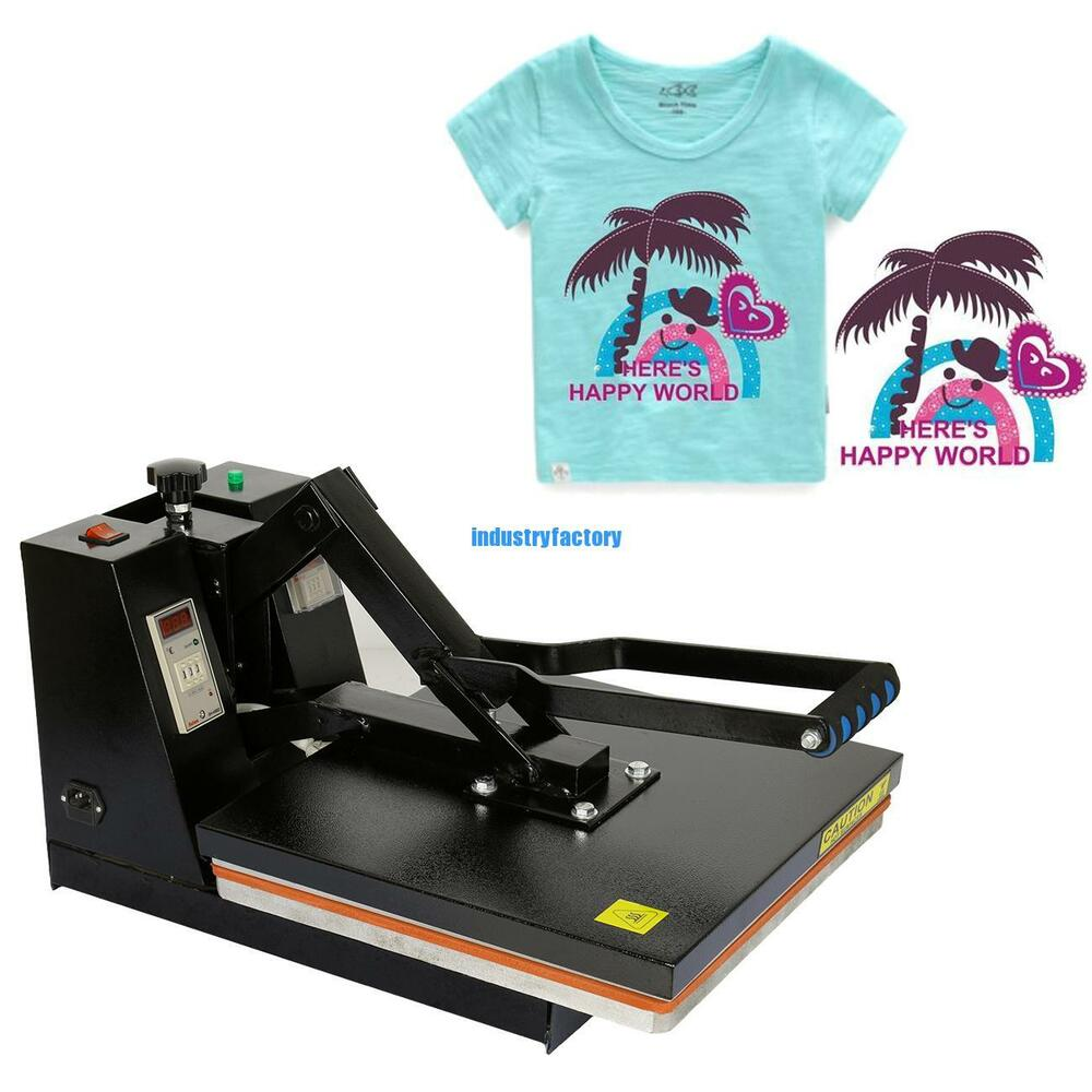 38x38cm Black Heat Press Machine Sublimation Digital