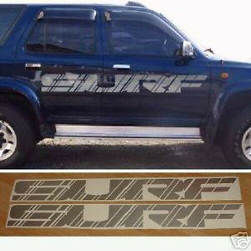 Toyota Suff: 2x Large SURF Side Decals Full Size. Toyota Hilux Surf