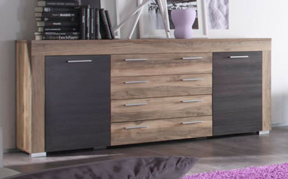 sideboard kommode boom nussbaum touchwood wohnzimmer schrank esszimmer anrichte ebay. Black Bedroom Furniture Sets. Home Design Ideas