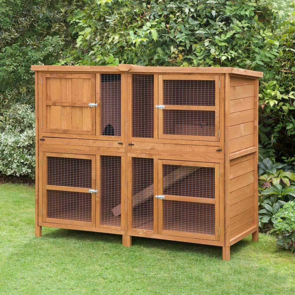 5ft chartwell double rabbit guinea hutch and run made in for 5 foot rabbit hutch