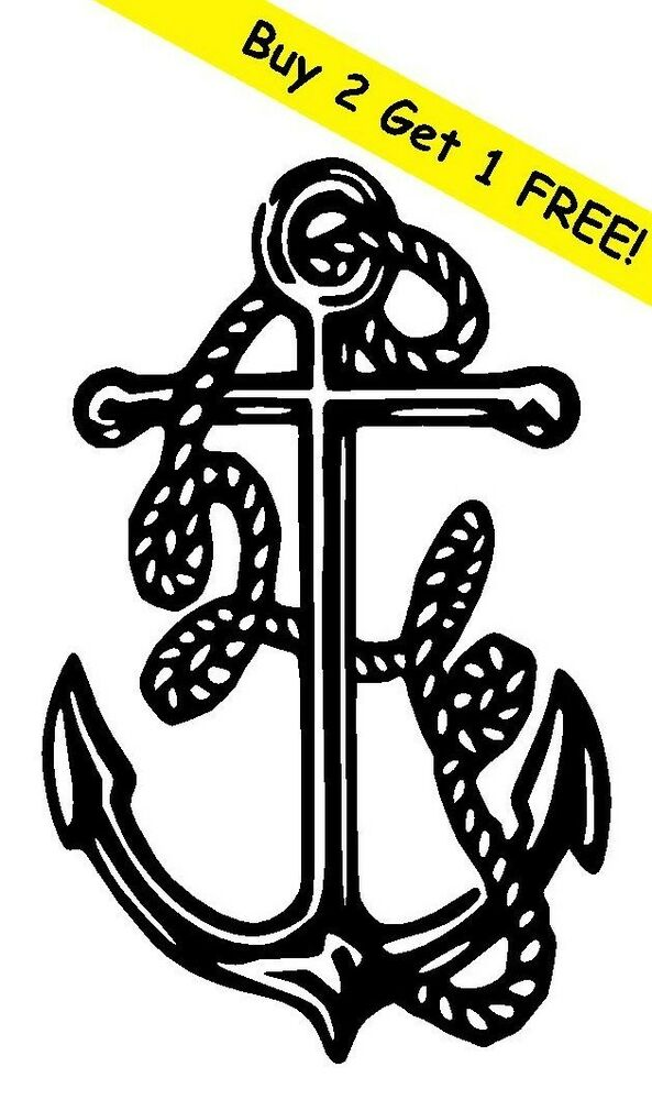 Anchor Vinyl Decal Sticker Car Boat Window Wall Bumper