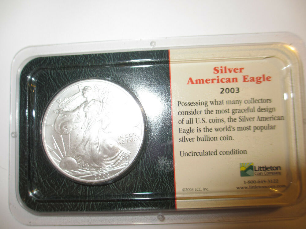 2003 1 Oz Silver American Eagle Littleton Coin Ebay