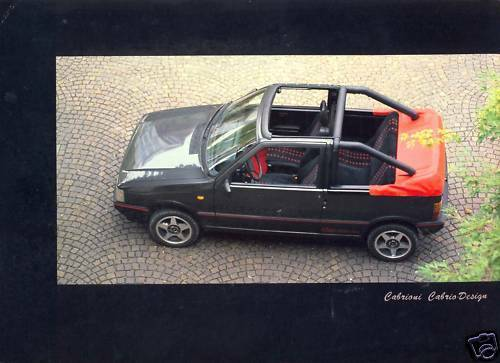 fiat uno cabriolet by cabrioni sales brochure ebay. Black Bedroom Furniture Sets. Home Design Ideas