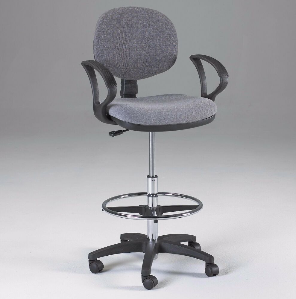 GRAY Counter Drafting Height Office Chair Stool w  : s l1000 from www.ebay.com size 989 x 1000 jpeg 68kB