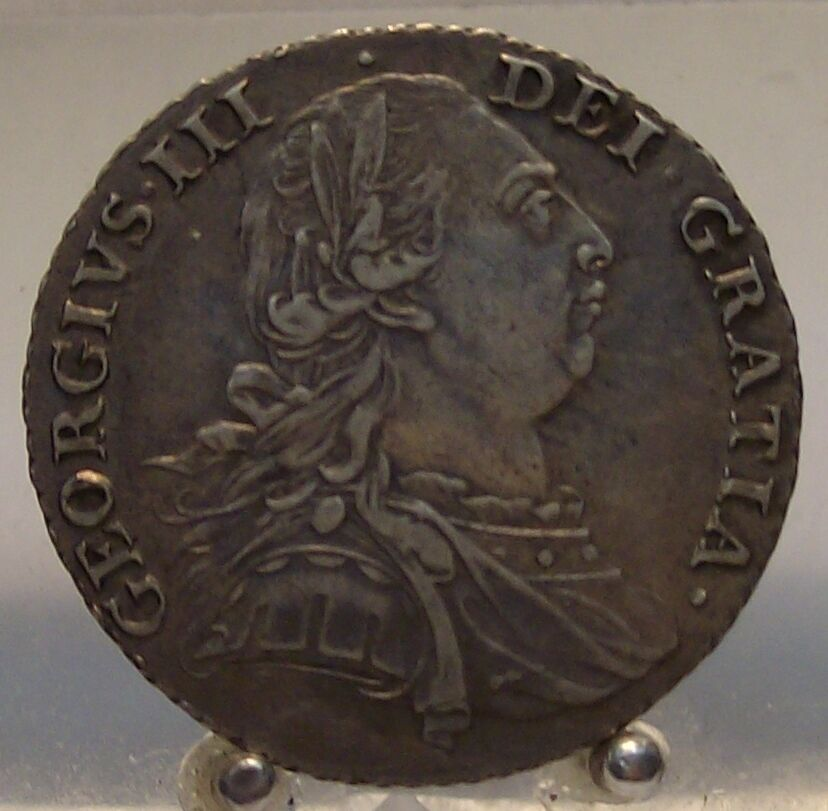 1787 Great Britain Silver 1 Shilling Old World Silver