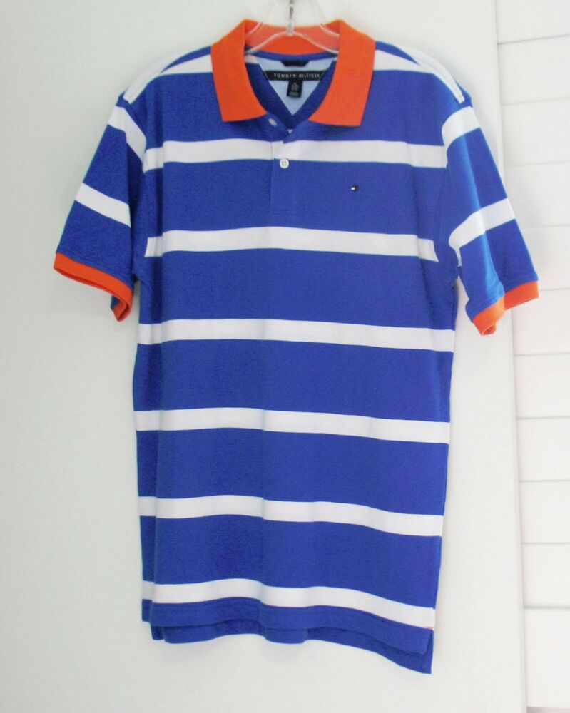 Tommy hilfiger boys alvin contrast striped polo shirt blue for Tommy hilfiger shirt size