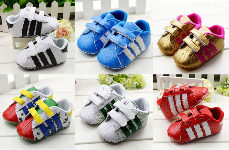 Infant Baby Boys Girls Crib Shoes Sneakers Size 0 6 6 12