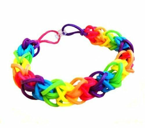 Optari mini loom multicolor rubber band bracelet making for Rubber band crafts without loom