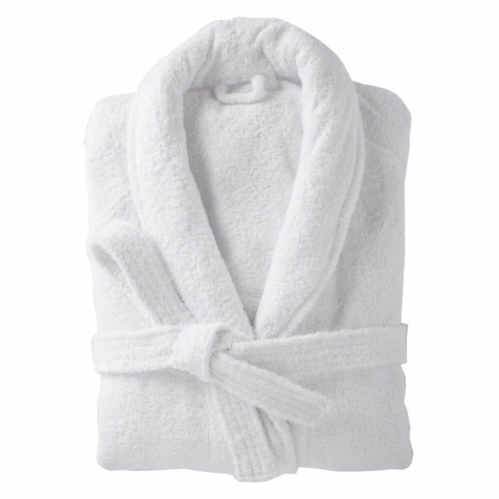 Dressing Gowns And Robes: 100% Cotton Dressing Gown Terry Towelling Shawl Collar