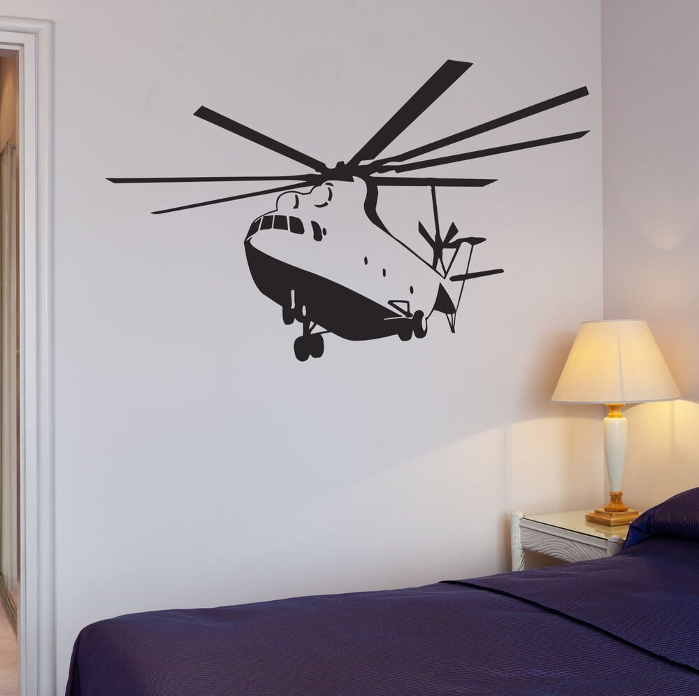 Usaf Wall Decor : Wall decal apache helicopter war military boys room vinyl stickers ig