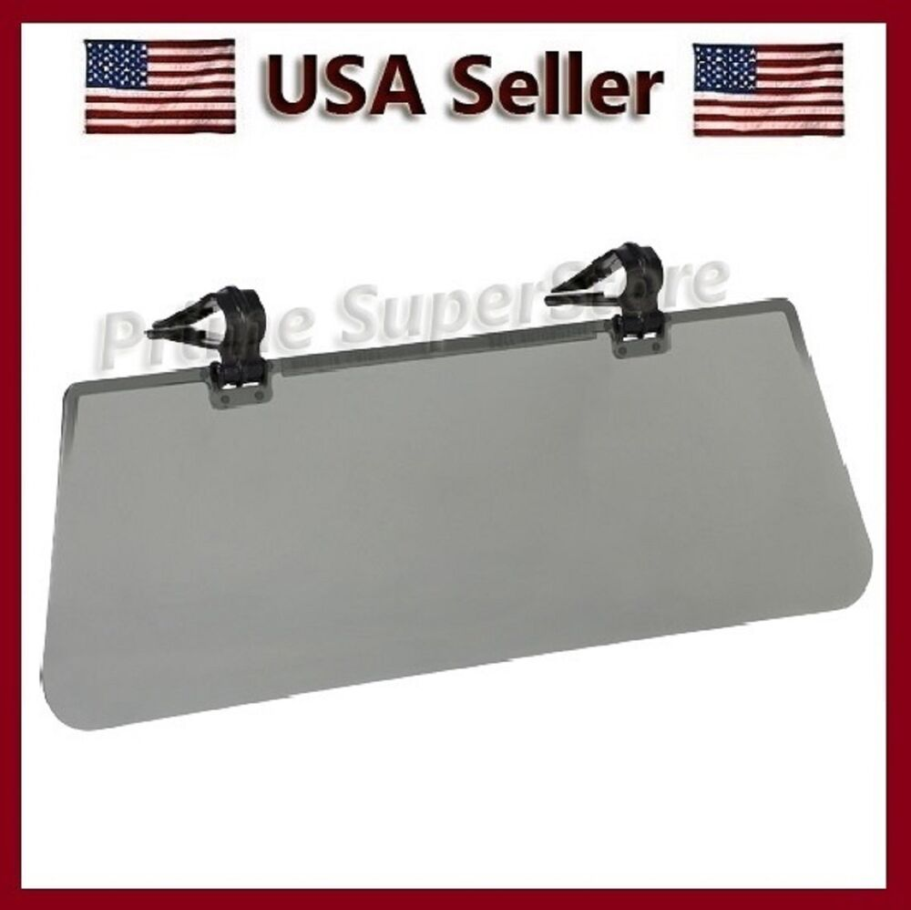 New Flip Car Auto Sun Visor Clip On Extension Shield Ebay