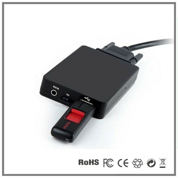Adapter Usb Sd Aux Mit Bluetooth: Car USB SD AUX MP3 CD Changer Adapter-Volvo S40 S60 S80