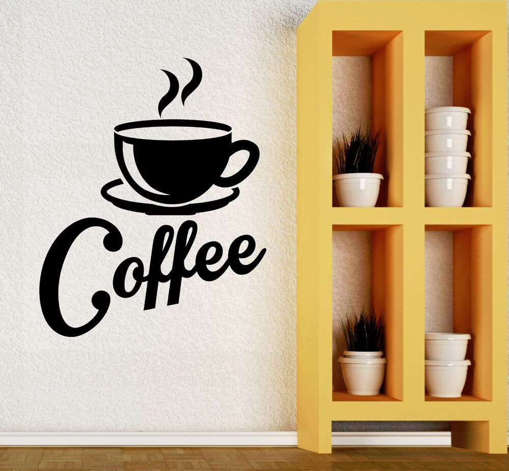 Coffee Kitchen Curtains Amazon Com: Wall Decal Kitchen Coffee Cup Cafe Restaurant Vinyl Stikcers (ig2687)