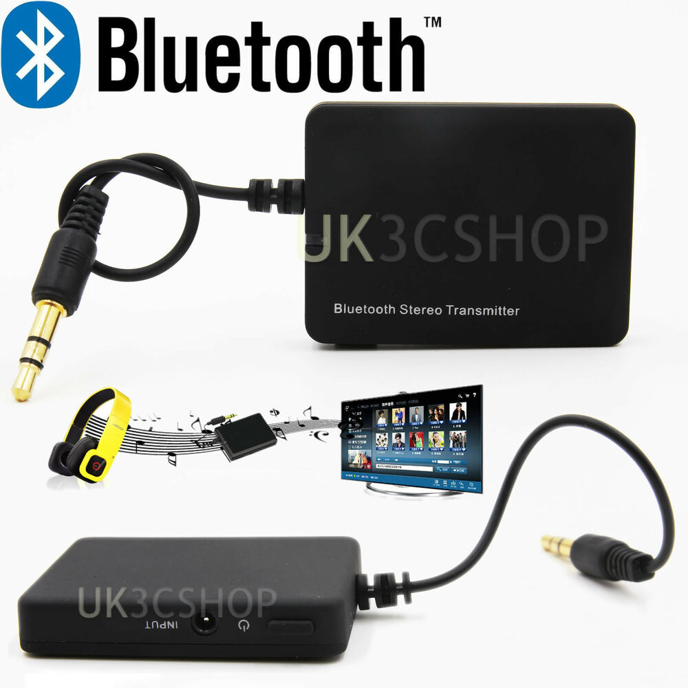 Wireless Bluetooth Audio Transmitter A2DP 3.5mm Stereo HiFi Adapter Dongle iPod | eBay