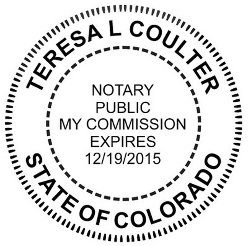 Round Self-Inking NOTARY SEAL RUBBER