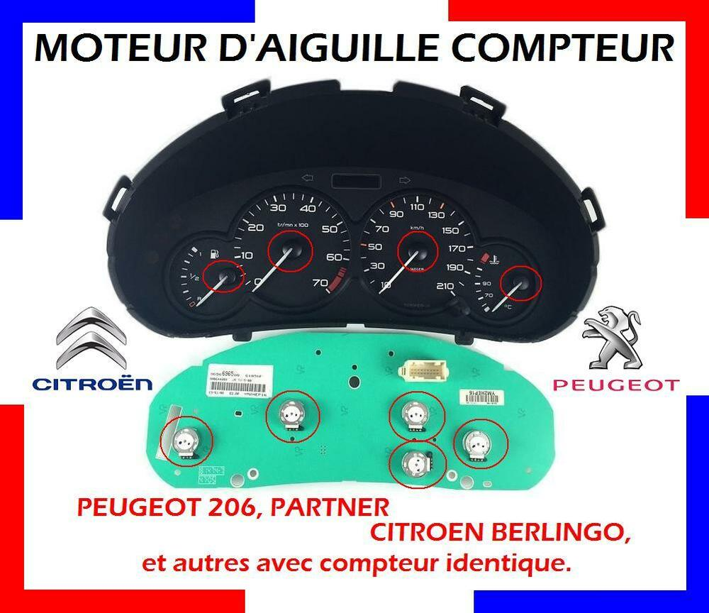 moteur d 39 aiguille compteur neuf peugeot 206 partner citroen berlingo ebay. Black Bedroom Furniture Sets. Home Design Ideas