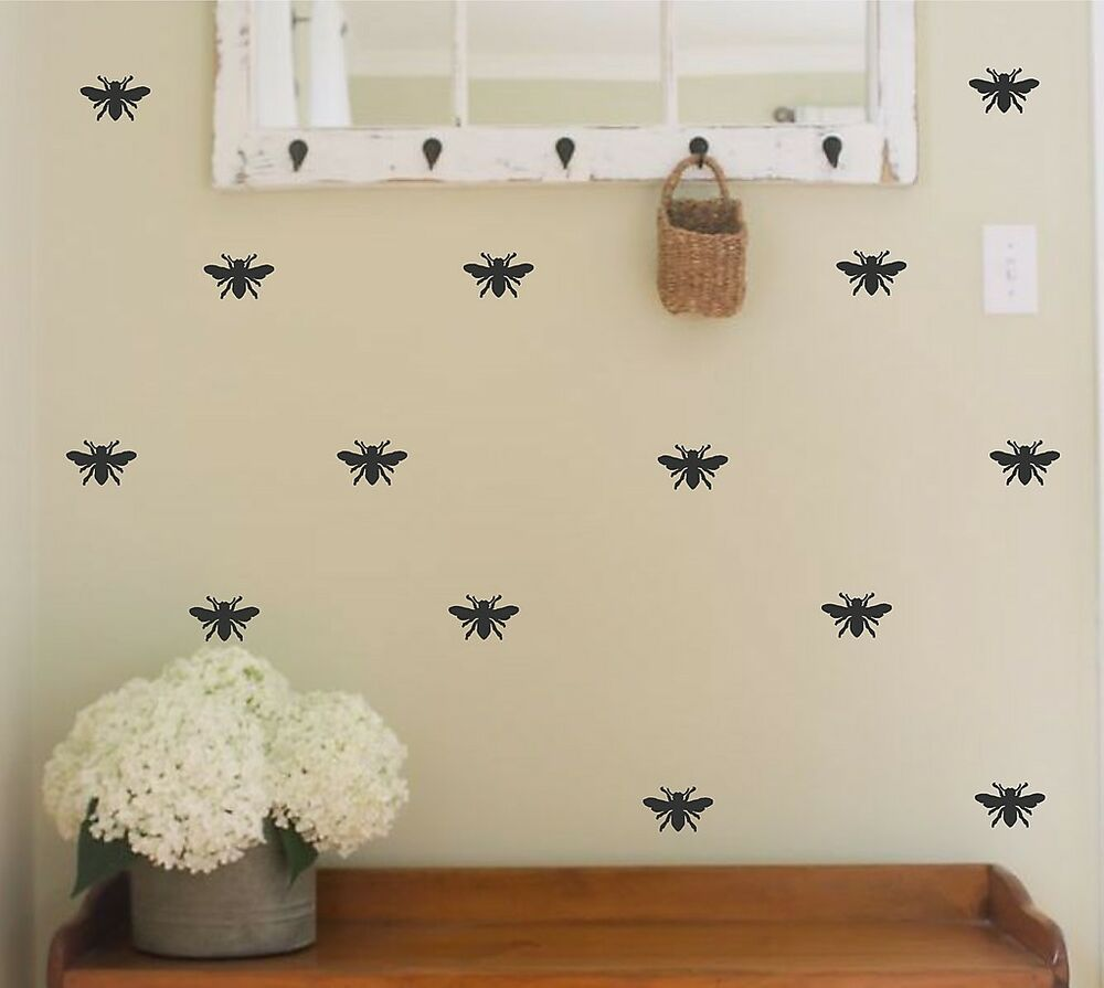 Bee vinyl wall decal honey bee designer decor home decor for Designer home accessories