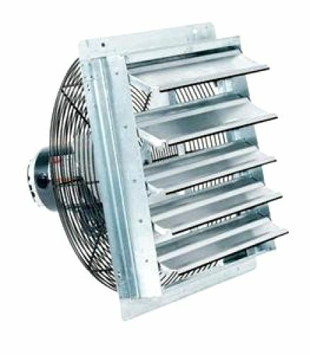 Mountable Exhaust Fan : Fantech industrial garage exhaust quot shutter air fans