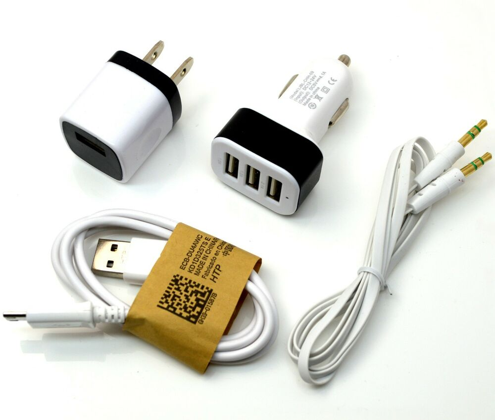 Cell Phone Cables : Audio micro usb cord cable car wall charger for