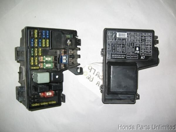 98 honda accord fuse box 1987 honda accord fuse box diagram 94-97 honda accord oem under hood fuse box with fuses ...