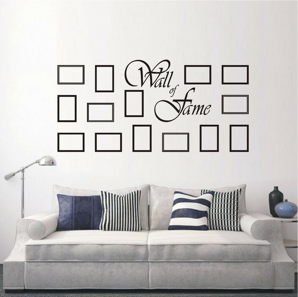 wandtattoo wandaufkleber wall of fame rahmen bilder wohnzimmer deko motiv 746 xl ebay. Black Bedroom Furniture Sets. Home Design Ideas