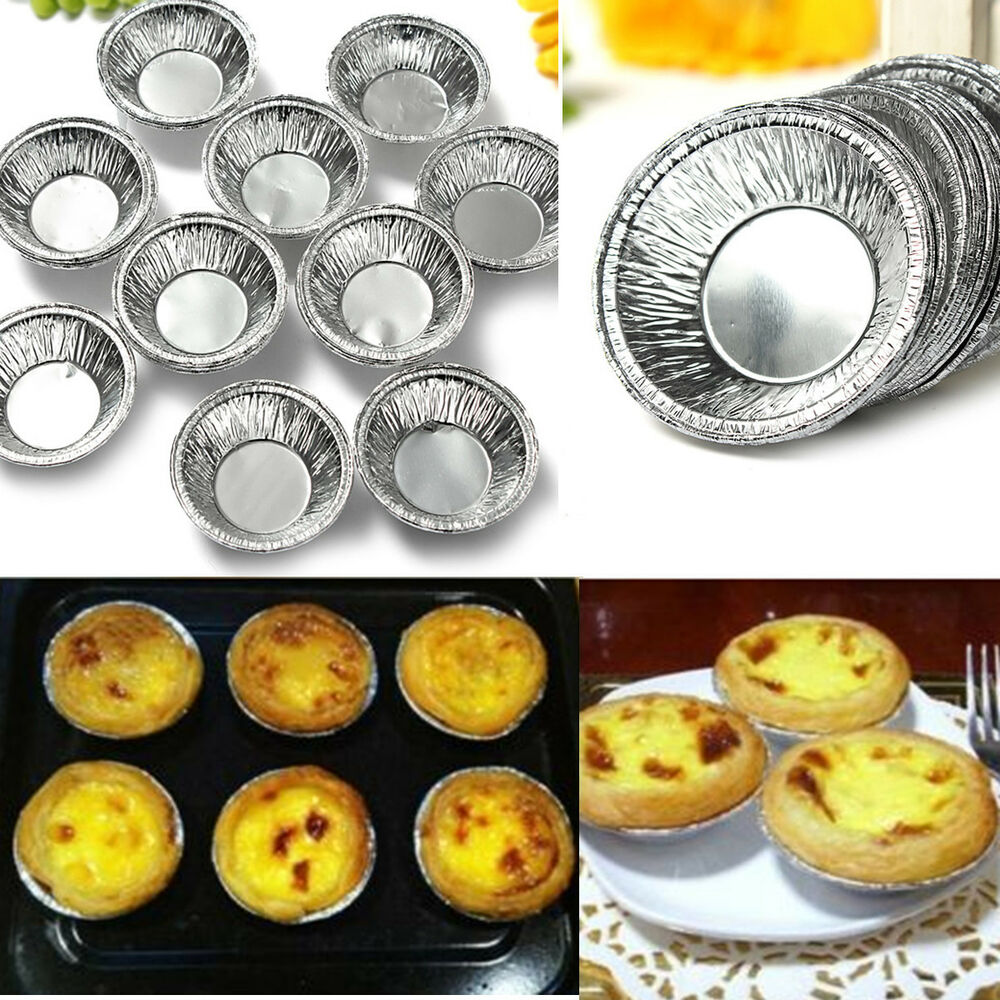125 250pcs Disposable Aluminum Foil Baking Cups Egg Tart