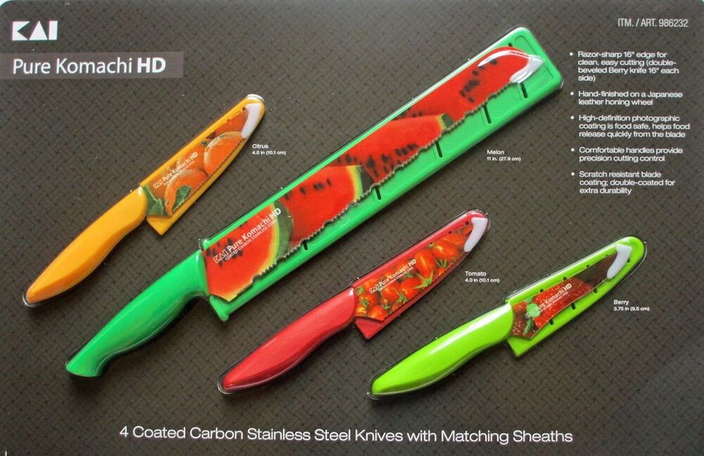 Kai Pure Komachi Hd Coated Carbon Stainless Steel Knife
