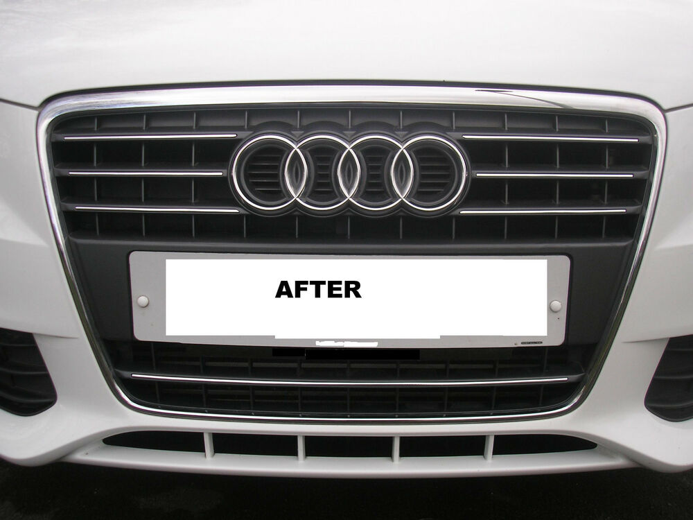 pre cut chrome trim for audi a4 b8 front radiator. Black Bedroom Furniture Sets. Home Design Ideas