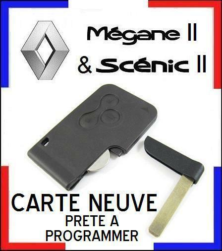 a saisir carte de d marrage neuve programmer renault megane ii et scenic 2 ebay. Black Bedroom Furniture Sets. Home Design Ideas