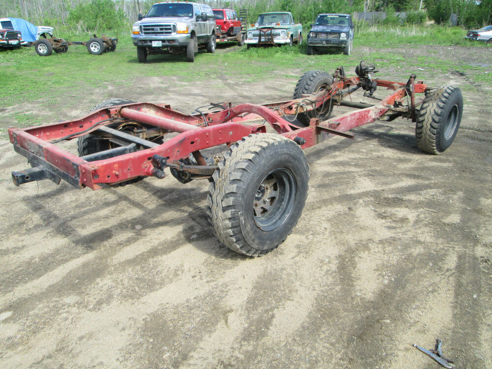 73 Jeep J10 Shortbed Quot Rolling Chassis Quot Frame And Axles Ebay