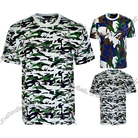img-New Mens Military Camouflage Camo T Shirt Army Combat Tee Summer Beach Tops
