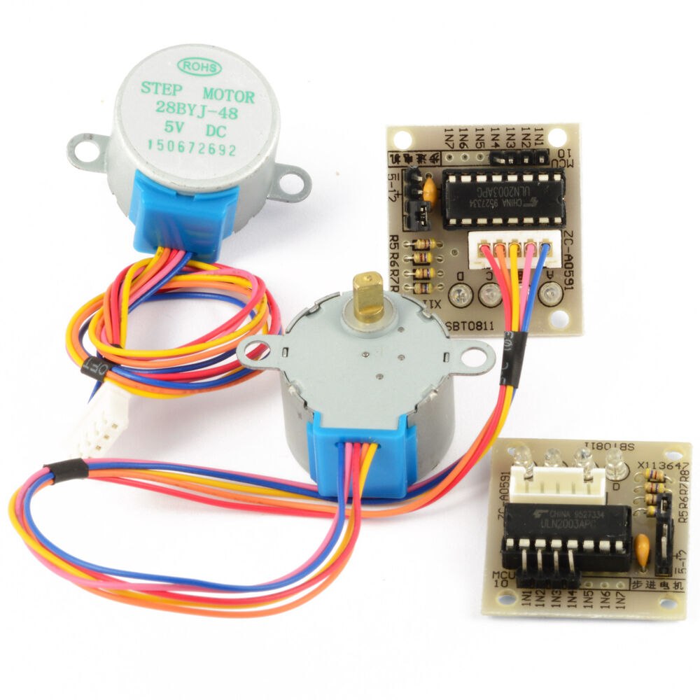Simple Motor Controller Hardware Particle Stepper Driver Circuit Geared 4 Phase With Board 28byj 48 Uln2003 X1 X2 X5 Ebay