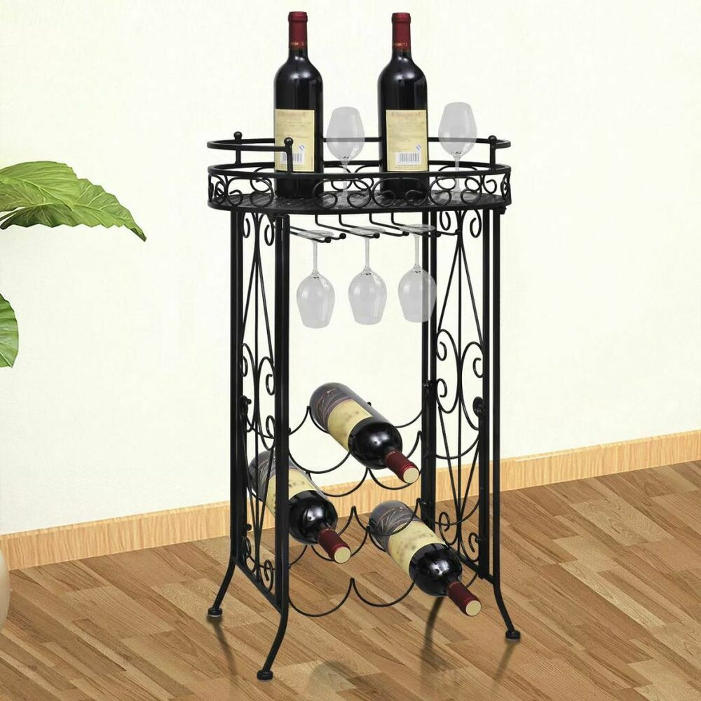 New metal wine storage rack table side