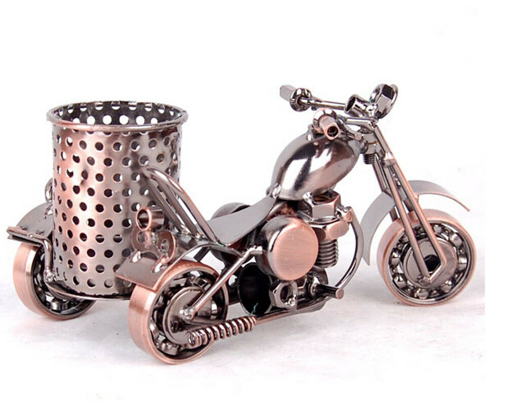 Handmade Craft Motorcycle Model pen holder Gift pencil Cup ...