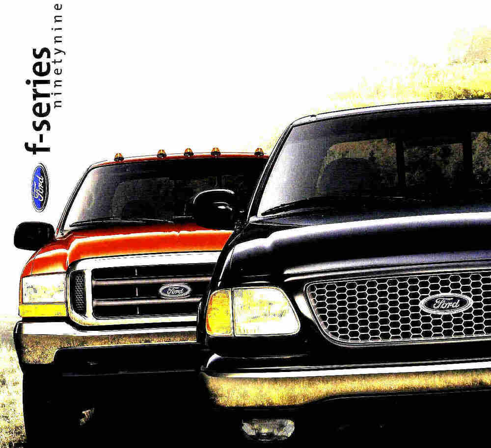 1999 ford f series pickup truck brochure f150 f250 f350. Black Bedroom Furniture Sets. Home Design Ideas
