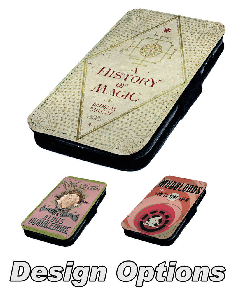 Harry Potter Book Cover Phone Case : Harry potter inspired book designs printed faux leather