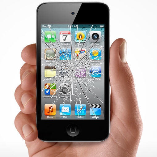 how to repair cracked screen on ipod touch
