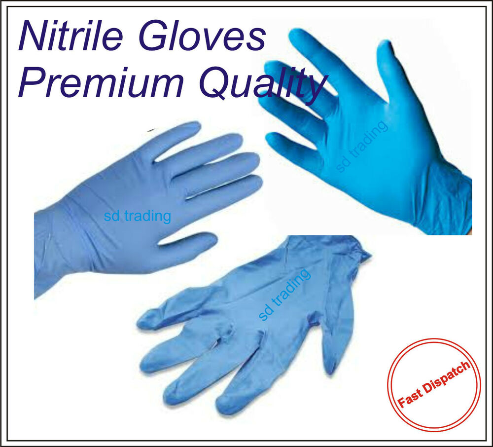 Nitrile Blue Powder Free Disposable Gloves Examination ...