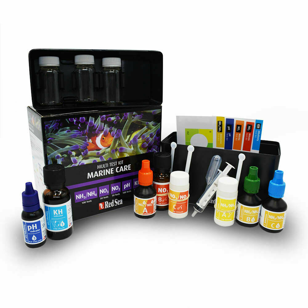 Red sea mcp test kit marine care master saltwater fish for Saltwater fish tank kit