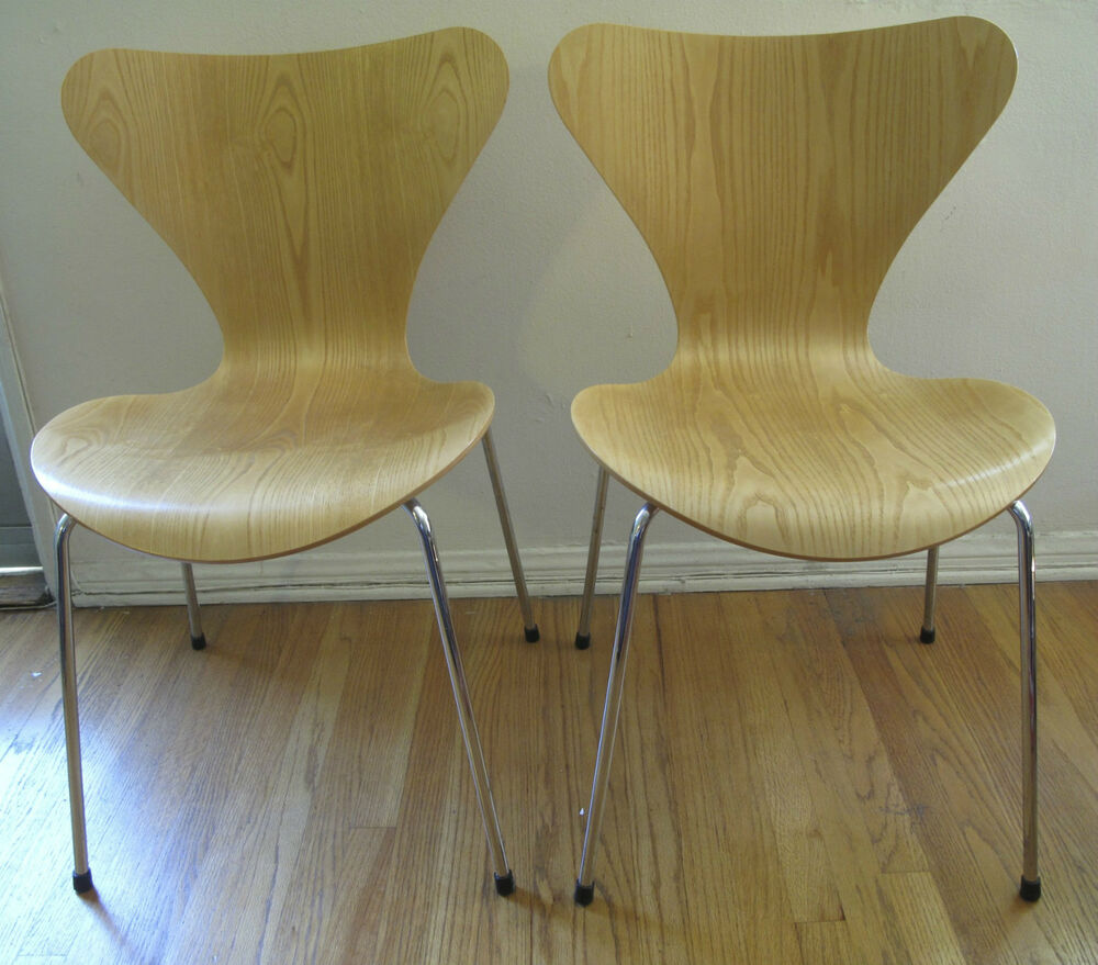 2 Arne Jacobsen Series 7 Wood Chairs for Fritz Hansen   eBay. Fritz Hansen Chairs Ebay. Home Design Ideas