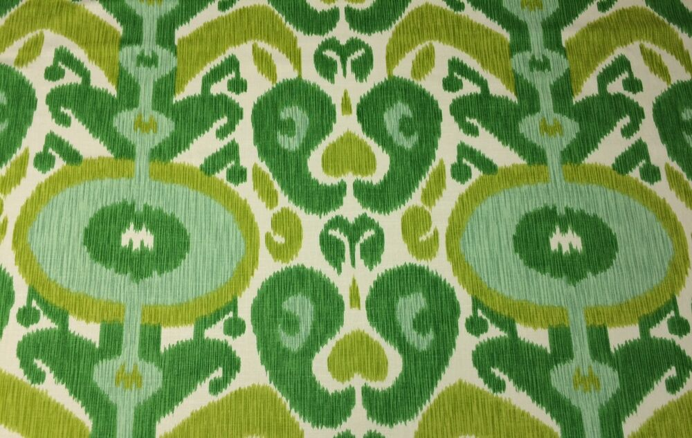 braemore big bold grass green ikat linen multiuse fabric by the yard 54 w ebay. Black Bedroom Furniture Sets. Home Design Ideas