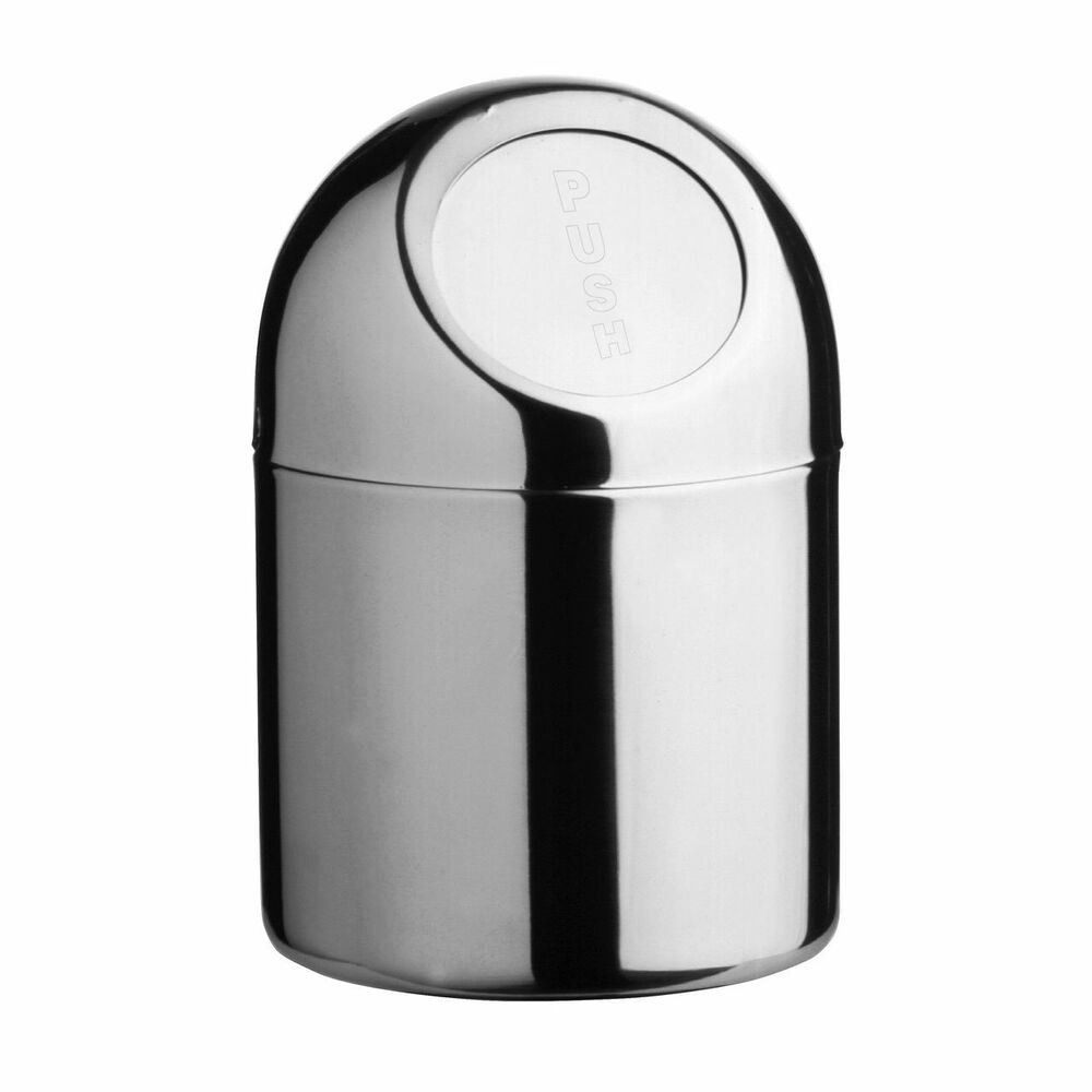 Push top home office bathroom stainless steel mini waste - Mini poubelle salle de bain ...
