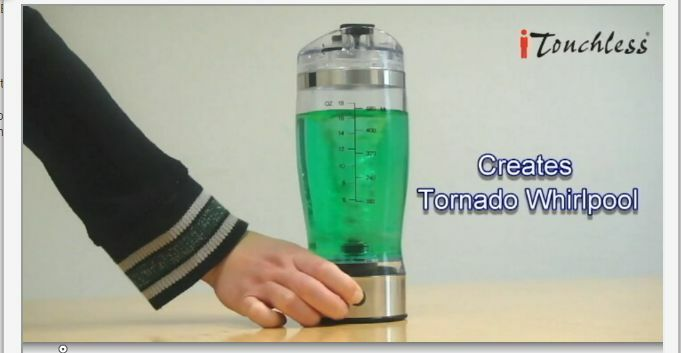 Battery Operated Hand Blender itouchless portable battery operated travel sport drinks ...