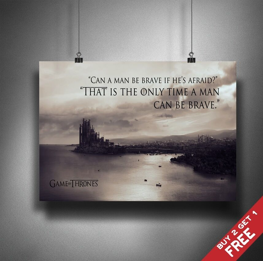 Game Of Thrones Friendship Quotes: GAME OF THRONES GOT QUOTE A4 / A3 POSTER * King's Landing