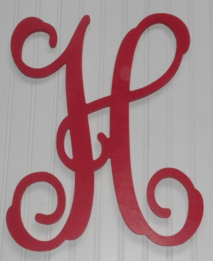 Painted 22 large individual vine letters wooden wall door for Decoration 9 letters