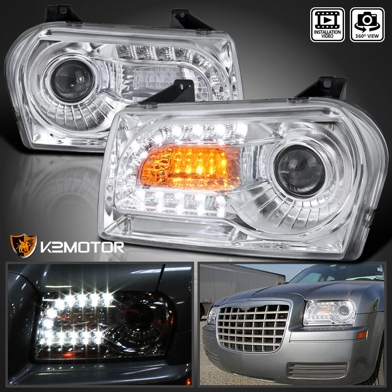 2005 2010 chrysler 300 chrome clear led drl turn signal. Black Bedroom Furniture Sets. Home Design Ideas