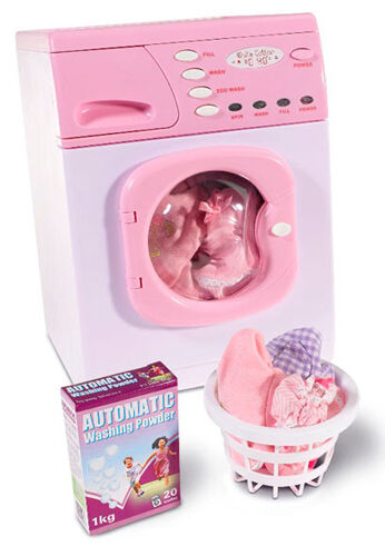 Casdon Hotpoint Toy Electronic Washing Machine Pink Washer